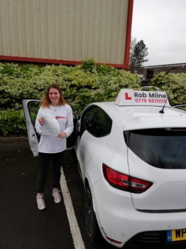 Many congratulations to a delighted Olivia Green of Congresbury on a fantastic drive and well deserved 1st time pass at Weston-super-Mare on 9th May