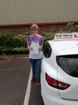 Many congratulations to a very happy Sam Oxley of Weston-super-Mare who passed his test with an excellent drive on 28th May 2019