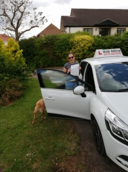 Many congratulations to a delighted Georgia Robinson of Wrington on an excellent drive and well deserved 1st time pass at Weston-super-Mare on 6th June 2019