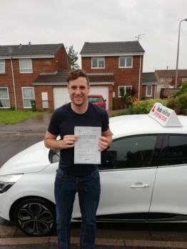 Many congratulations to a delighted David Morgan who passed with ZERO faults at Weston-super-Mare on 7th June